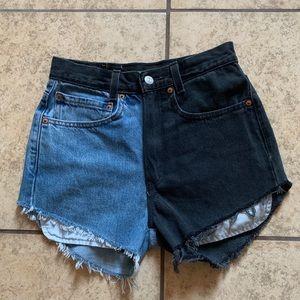 Vintage custom made Levi's shorts